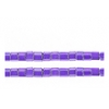 2 Cut Beads Opaque Purple Aurora Borealis 10/0 Strung